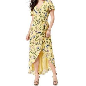 Guess Tulip Hem Wrap Maxi Dress Size Small NWT